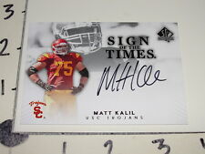 2012 SP AUTHENTIC Matt KALIL On Card Autograph RC USC Trojans Minnesota VIKINGS