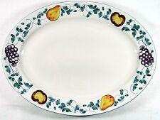 "Fruttie Oval Serving Platter Tabletops Unlimited 13 1/2"" Length Rim Shape    353"