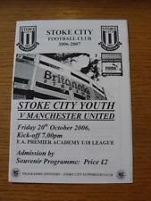 20/10/2006 Stoke City Youth v Manchester United Youth  (Rusty Staples)