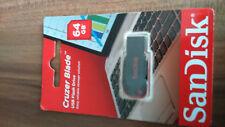 Sandisk 64GB  Cruzer Blade USB 2.0 Speicherstick Neu