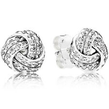 PANDORA Ohrstecker Ohrringe Earrings 290696 CZ Love Knot Silber