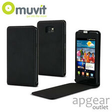 GENUINE MUVIT SAMSUNG GALAXY S2 PLUS BLACK SLIM-FLIP MUSLI0011 PHONE CASE COVER