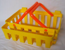 VINTAGE! 1984 Fisher Price Little Helper Yellow Shopping Basket