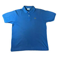 Mens Lacoste Polo Shirt Classic Polo Blue Size 5 Large
