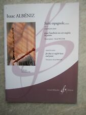 Albeniz -  Suite espagnole op 47 for Oboe and piano *NEW Publisher Billaudot