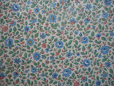 Lovely length unused vintage floral soft silky dress fabric - 2 yard lengths