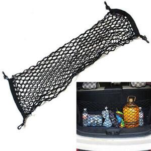 Car Envelope Style Trunk Cargo Net Storage Bag Organizer Universal Black W/ Hook