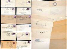 GB PERFINS 12 ITEMS 1958-66 PRINTED ENVS + PROVING COMPANY NAMES...QE2 WILDINGS