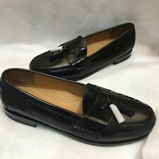 Cole Haan Tassel Loafer Moc Slip On Whip Stitch Black Leather 13 D