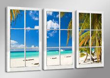 Leinwand Bild drei Bilder Fenster  160x90cm Marke Visario XXL 3 tlg 1164>