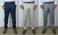 Mens Straight Leg Chinos Ex Branded Regular Fit Casual Summer Trousers W30-W42