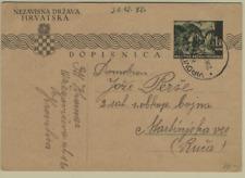 Croatia 1942 WWII Miltary Card to Domobran Virovitica Martinjska Ves