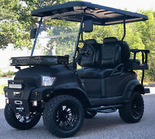 GOLF CART CLUB CAR ELECTRIC VEHICLE CUSTOM LIFTED BUILD BLACK PRECEDENT