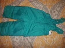 NEW Cat & Jack Girl's Teal Snow Ski Bib Overalls - Size: 12M (B59)