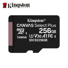 NEW Kingston 256GB Canvas Select PLUS MicroSDXC Card A1 C10 UHS-I 100MB/s + AD