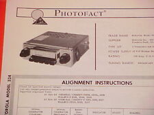 1964 MOTOROLA AM RADIO SERVICE MANUAL MODEL 524 CHEVROLET FORD CHRYSLER DODGE