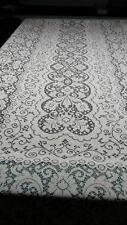 60'' X 144'' LACE BANQUET TABLECLOTH IVORY IN COLOR    HUGE RECTANGLE