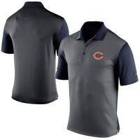 NIKE CHICAGO BEARS DRI-FIT PERFORMANCE POLO BLUE,GRAY 656683-021 MENS SIZE SMALL