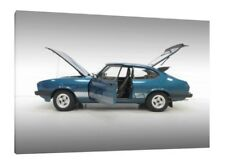 1980 Ford Capri 3.0S - 30x20 Inch Canvas - Framed Picture Print Art