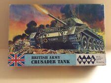 1965 hawk BRITISH ARMY Crusader Tank Model Kit NEAR MINT IN BOX! (See Photos)