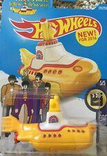 HOT WHEELS 2016 The Beatles  YELLOW SUBMARINE NIP 1:64 DC VHTF HW Screen Time