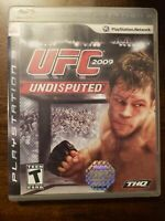 UFC 2009 UNDISPUTED - PS3 - COMPLETE W/ MANUAL - FREE S/H - (B32A)