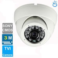 3Mp Hd Tvi Dome Camera Sony Cmos 3.6mm Lens 24 Ir Outdoor Ip67 Outdoor