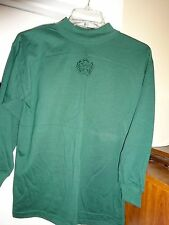 STRATOSPHERE Green Ladies Size Medium Mock Turtleneck Top Blouse Long Sleeve