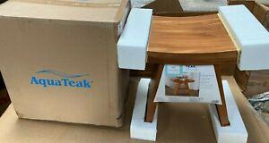 """AquaTeak 18"""" Asia Teak Shower Bench New In Box"""