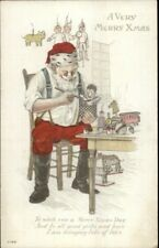 Christmas - Santa Claus Toy Shop Jack in the Box C-199 c1910 Postcard