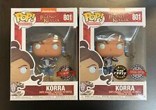 Funko POP The Legend Of Korra Chase Set Glow Special Edition - IN HAND MINT BOX