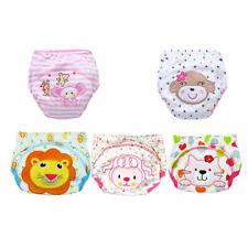 Reusable Nappy Training Pants 3 Layers Kid Waterproof Cotton Potty Urinate Pants
