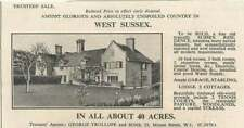 1936 Fine Sussex Residence, 10 Bedrooms, Two Cottages 40 Acres For Sale