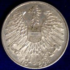 AUSTRIA 5 SCHILLING 1952 #890