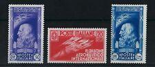 FRANCOBOLLI 1935 REGNO SALONE AERONAUTICO 3 VALORI INTEGRI MNH Z/641