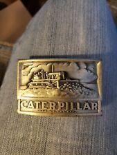 Vintage Caterpillar Bulldozer Tractor 3D Belt Buckle, Leavens Mfg.