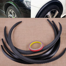 Hot 4xCarbon Fiber Car Wheel Rubber Eyebrow Protector Lip Arch Trim Fender Strip