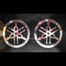 2x Aufkleber Sticker Yamaha Stimmgabel Chrom #0247