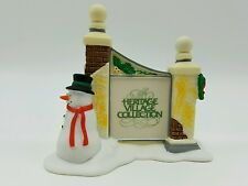 Dept 56 Heritage Village Sign Snowman 55727 Retired New Old Stock Mint in Box