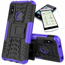 For Xiaomi Mi A2 /Mi 6X Hybrid Case Outdoor 2 Pieces Purple Case + 0,26 H9 Glass