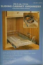 """New listing Professional Cabinet Solutions 14"""" Chrome Sliding Kitchen Cabinet Organizer, New"""