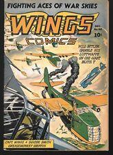 Wings Comics #40 Dec.1943 Fiction House GGA Good Girl Art Hitler Luftwaffe