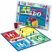 Family Indoor/Outdoor Playtime Fun Activity Traditional Luxury Ludo Board Game