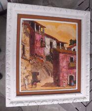 1972 Robert Farrington Taxco Mexico oil painting ORIGINAL framing 20x24 Listed
