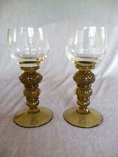 2 Stück alte Weinglas Römer Theresienthal Kristall Beerennuppen