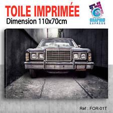 110x70cm - TOILE IMPRIMÉE TABLEAU DECO - VOITURE FORD  CAR - FOR-01
