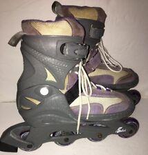 Abec 5 Glitter Inline Roller Skates purple gray size 5-8 girls women-Ships N 24H