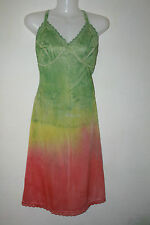 Tye Dye slip, dress rasta colors size 10