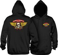 Powell Peralta Winged Ripper Hoodie Sweatshirt Skateboard Black M L XL