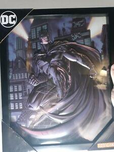 """DC Comics Batman 3D Shadowbox Art Comic Walls Authentic Print Comic Hero 15""""x12"""""""